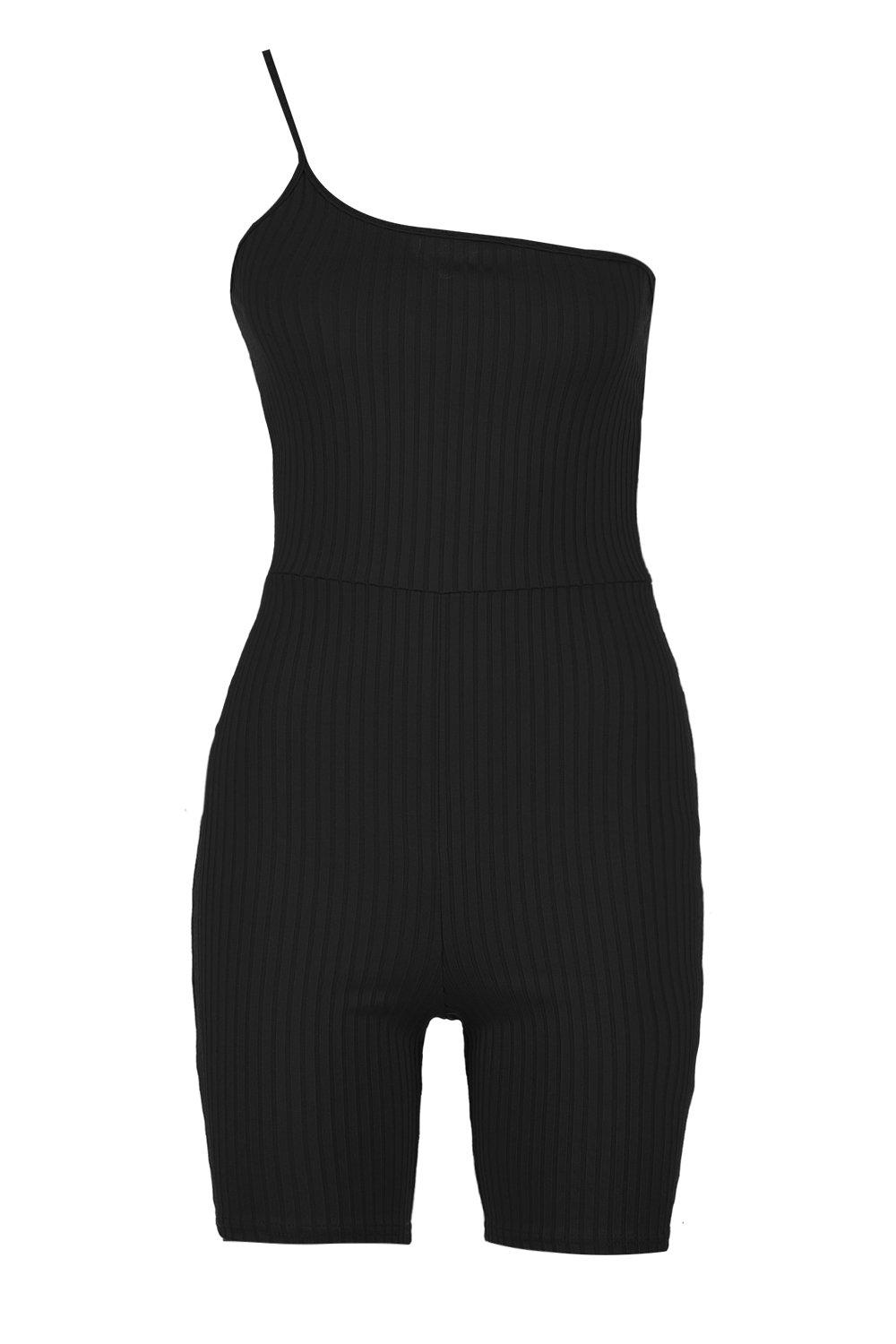Rib One Jumbo Shoulder black Unitard 6xEZzq