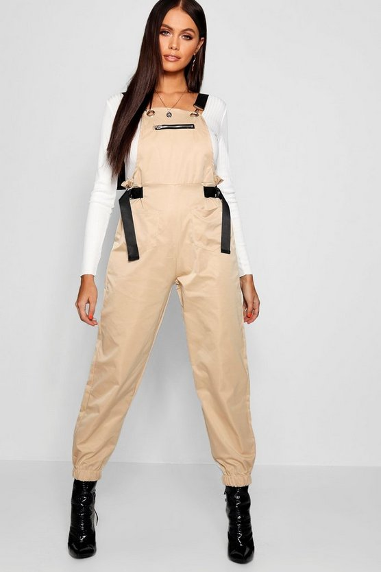 Canvas Utility Cargo Style Overall