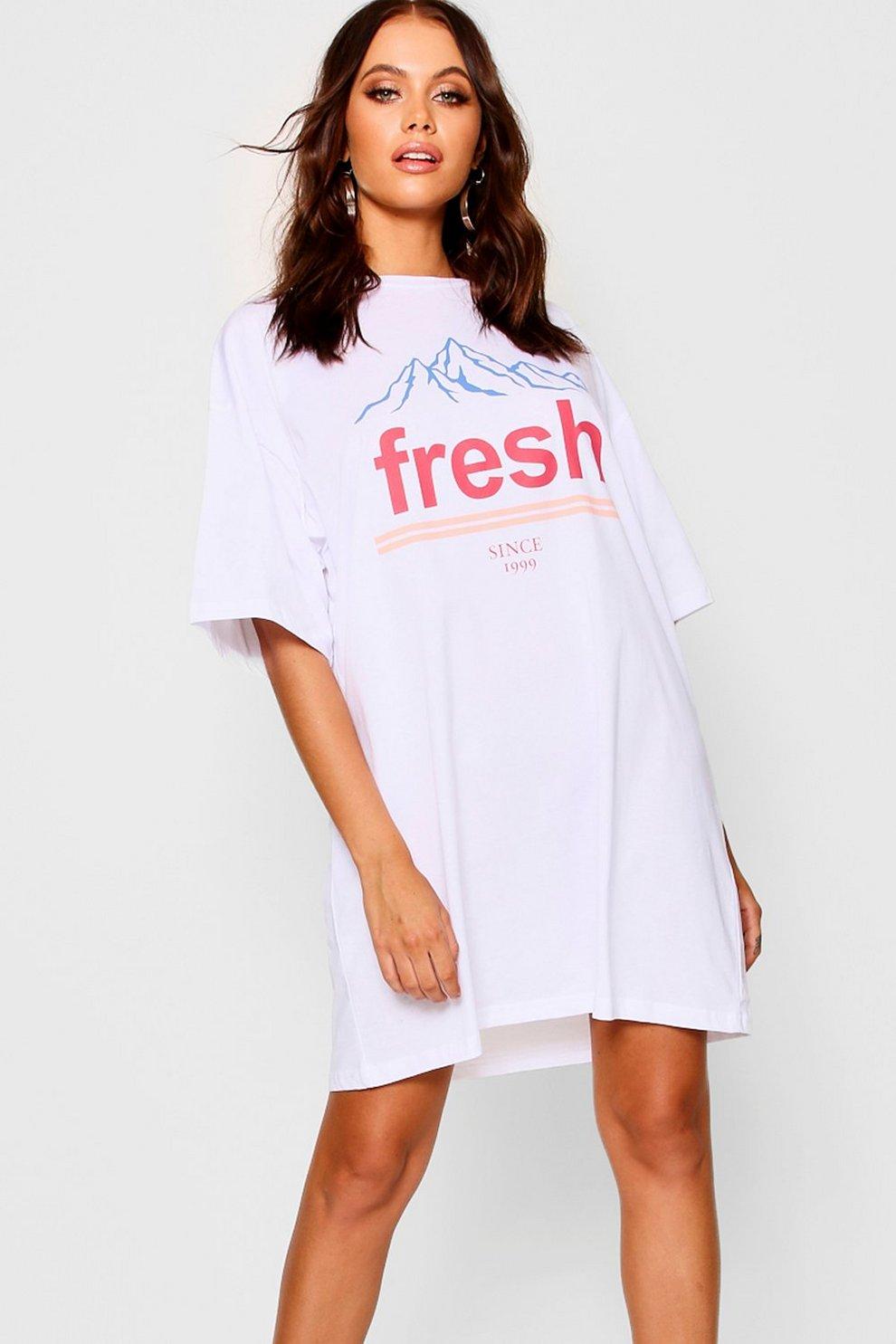 e7a0a7c3528 Fresh Oversized T-Shirt Dress