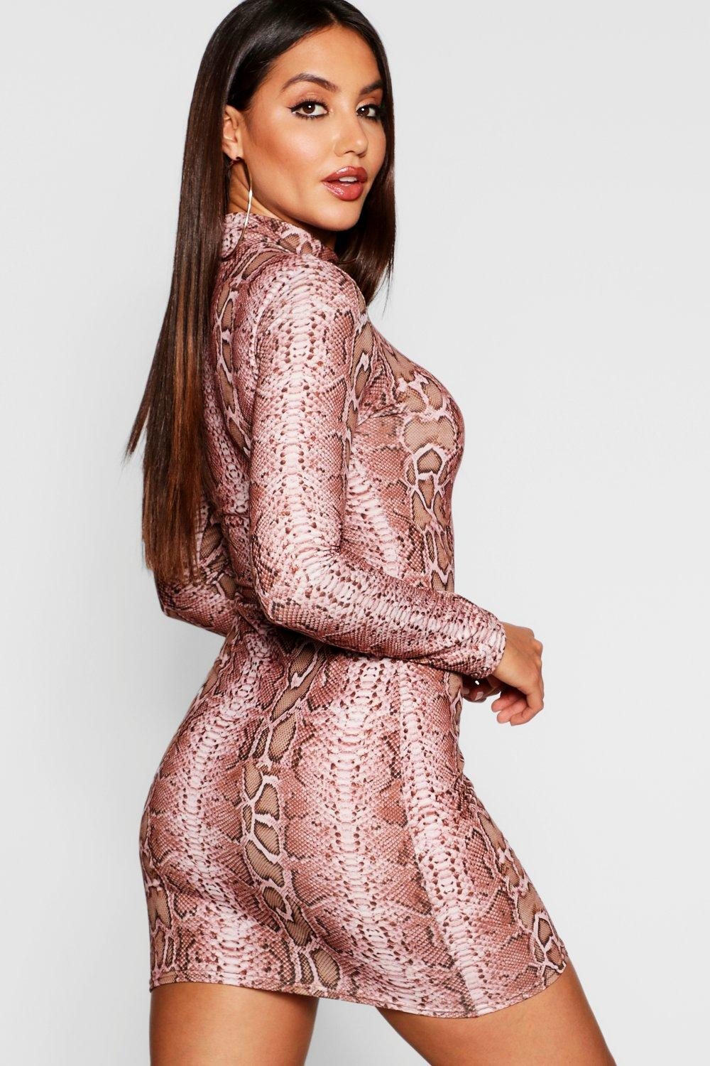 f8d1a622b43 ... Snake Print Mini Dress. Hover to zoom