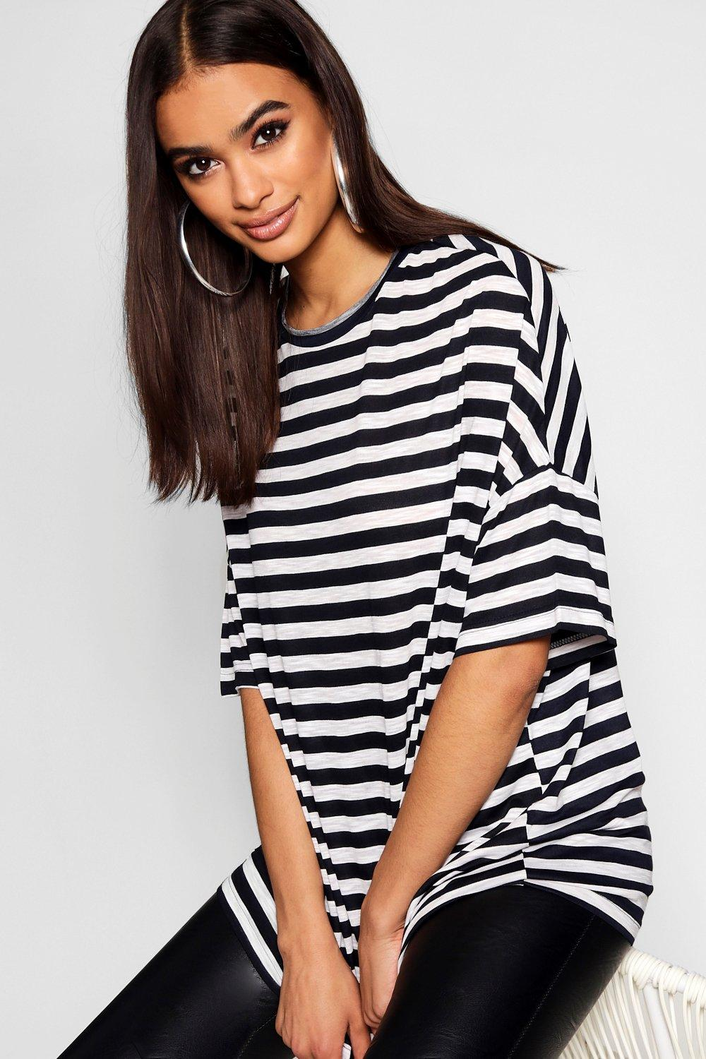 T Stripe Shirt Stripe black Supersize Supersize qqxFPOS