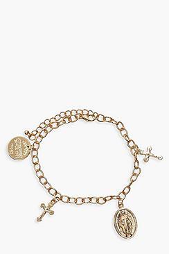 Cross & Sovereign Charm Bracelet