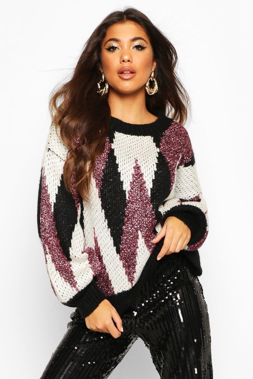 Premium Metallic Tinsel Knitted Jumper