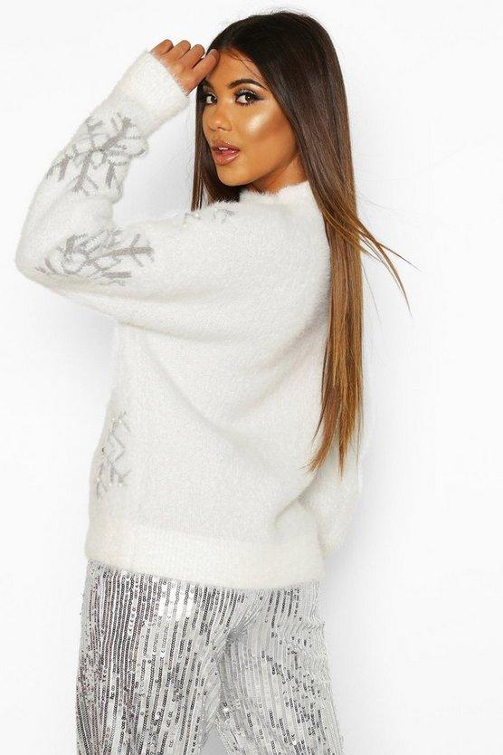 Premium Embellished Feather Knit Jumper