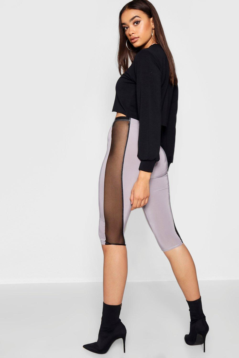 Mesh Cropped Cycle black Leggings Side xHwpw0SCqz