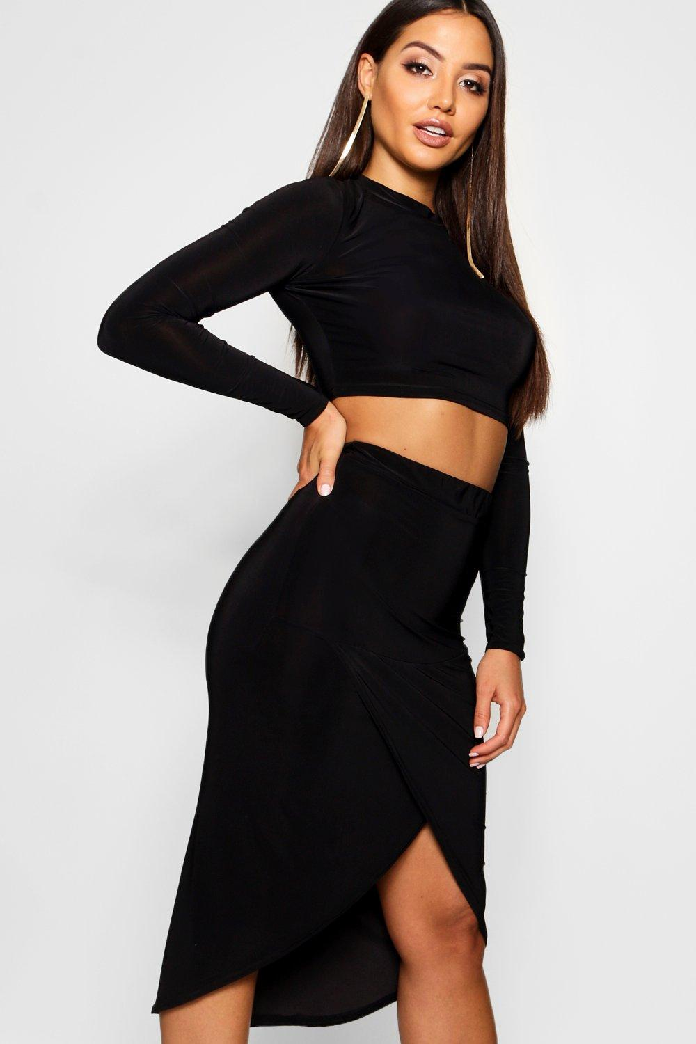 Slinky Skirt Wrap Ord black Co Mesh Sleeve tw8qAA