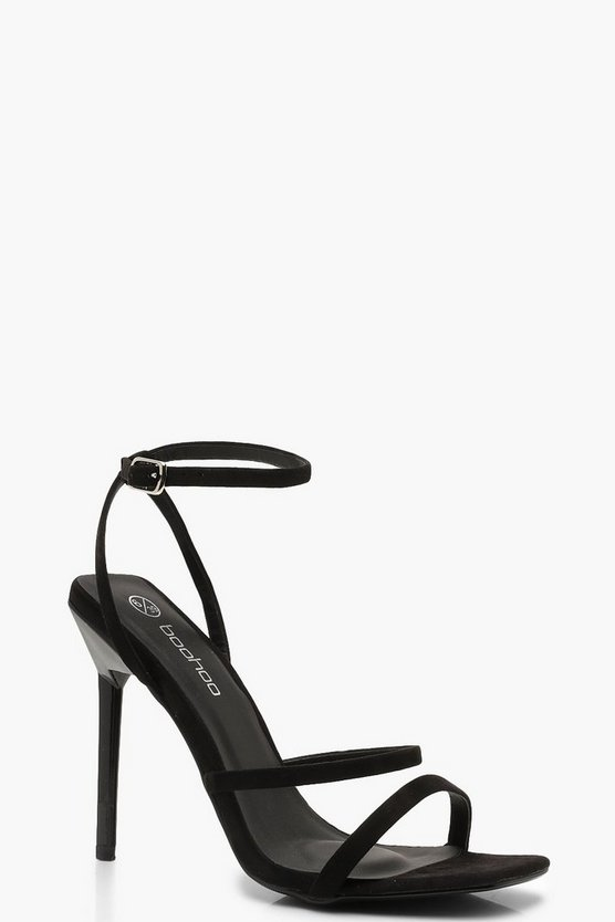 Wide Fit Square Toe Heels by Boohoo