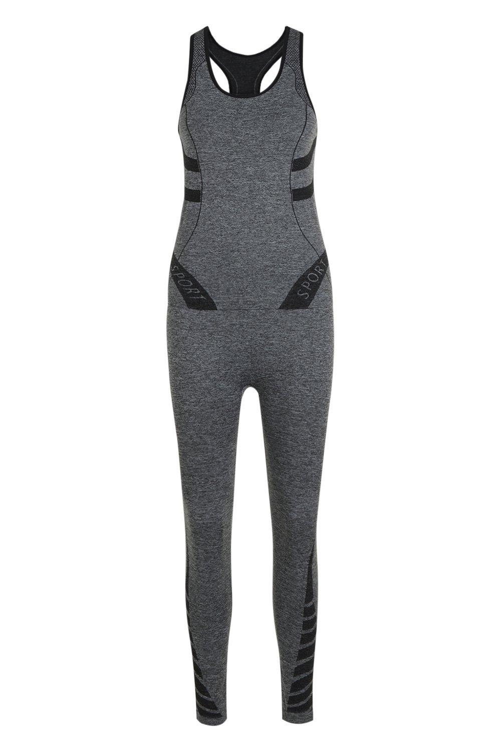 black Legging Fit Sports Set And Vest XqvO7