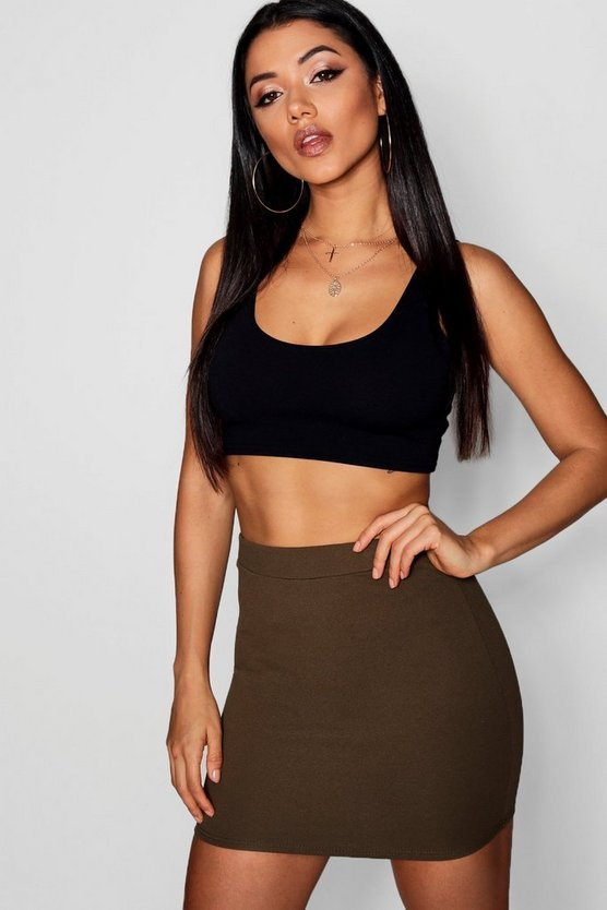 Crepe Micro Mini Skirt
