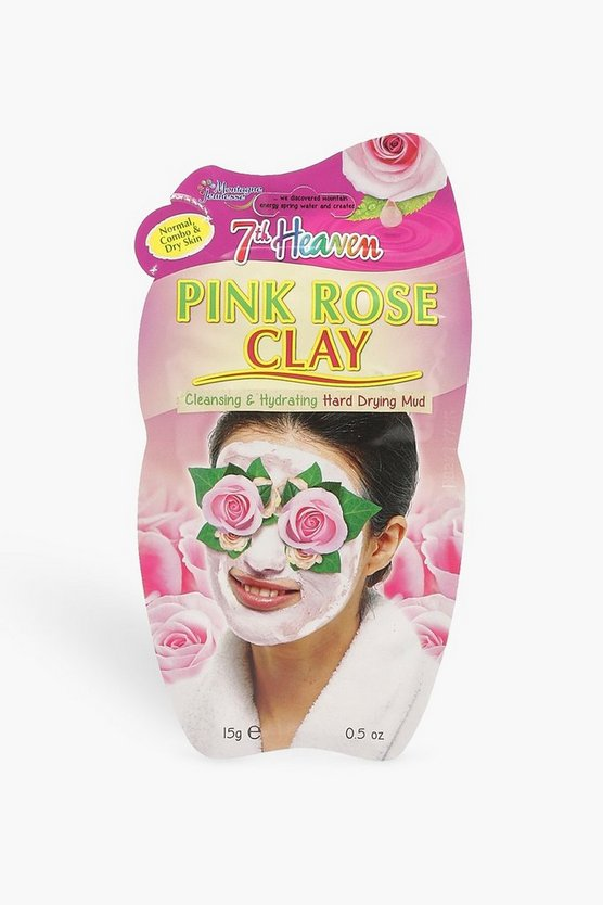 Womens Pink Rose Clay Peel Off Face Mask