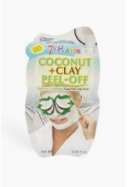 Womens White Coconut & Clay Peel Off Face Mask