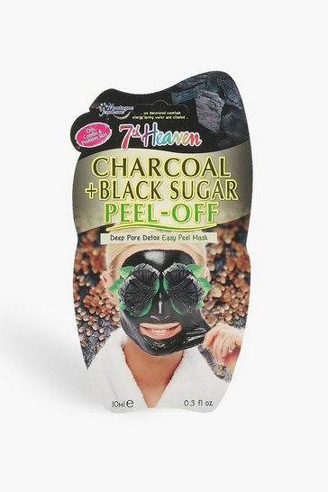 Womens Charcoal & Black Sugar Peel Off Face Mask