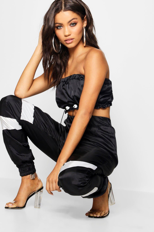 Pantalones deporte varias con estilo de negro cortaviento piezas rr61n5Owqx