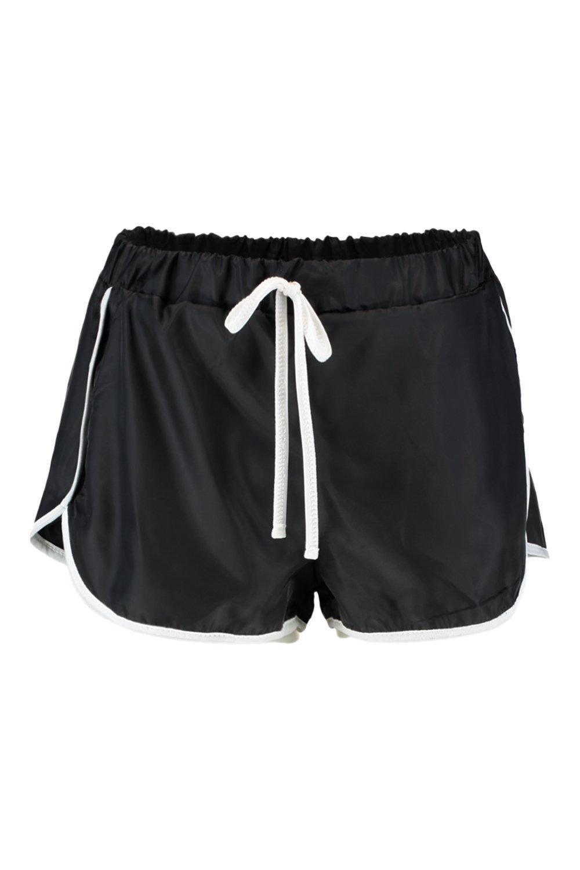 Pantalones negro correr estilo cortos cortaviento de rEqaWrXw