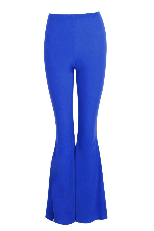 Pantalones cintura alta con skinny cobalto acampanados qwwBz1x80