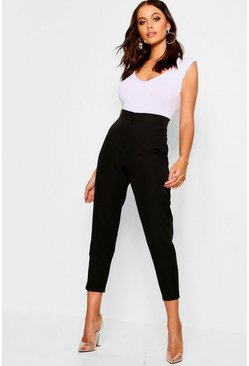 Womens Black Tapered Trouser
