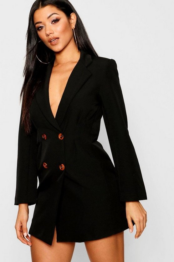 Utility Double Breasted Blazer Dress