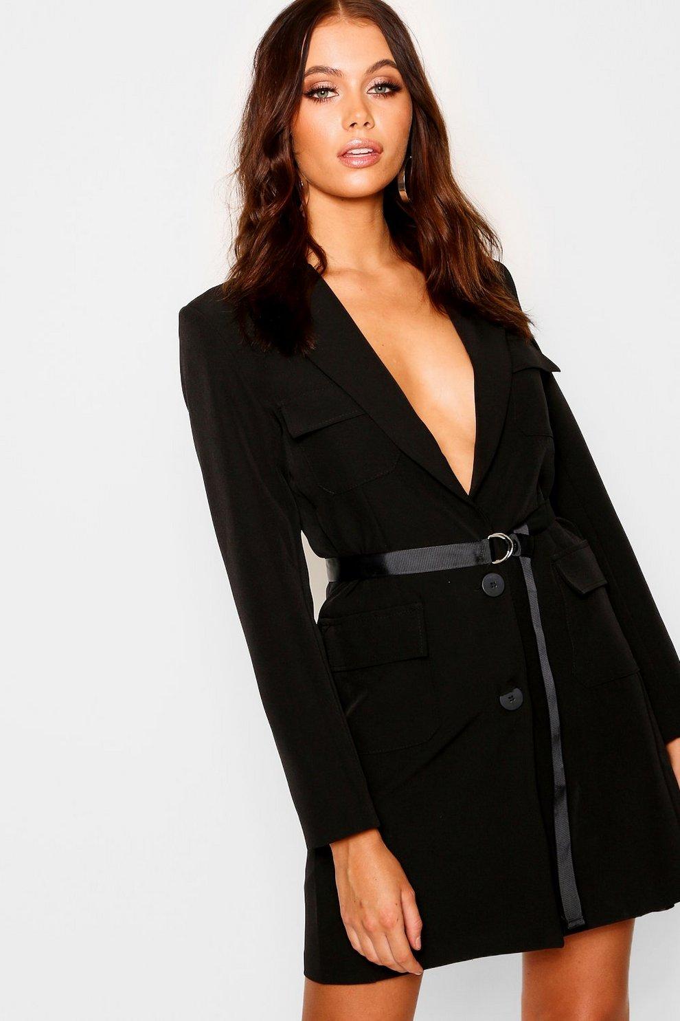 05cc21bde8e Utility Belted Blazer Dress | Boohoo