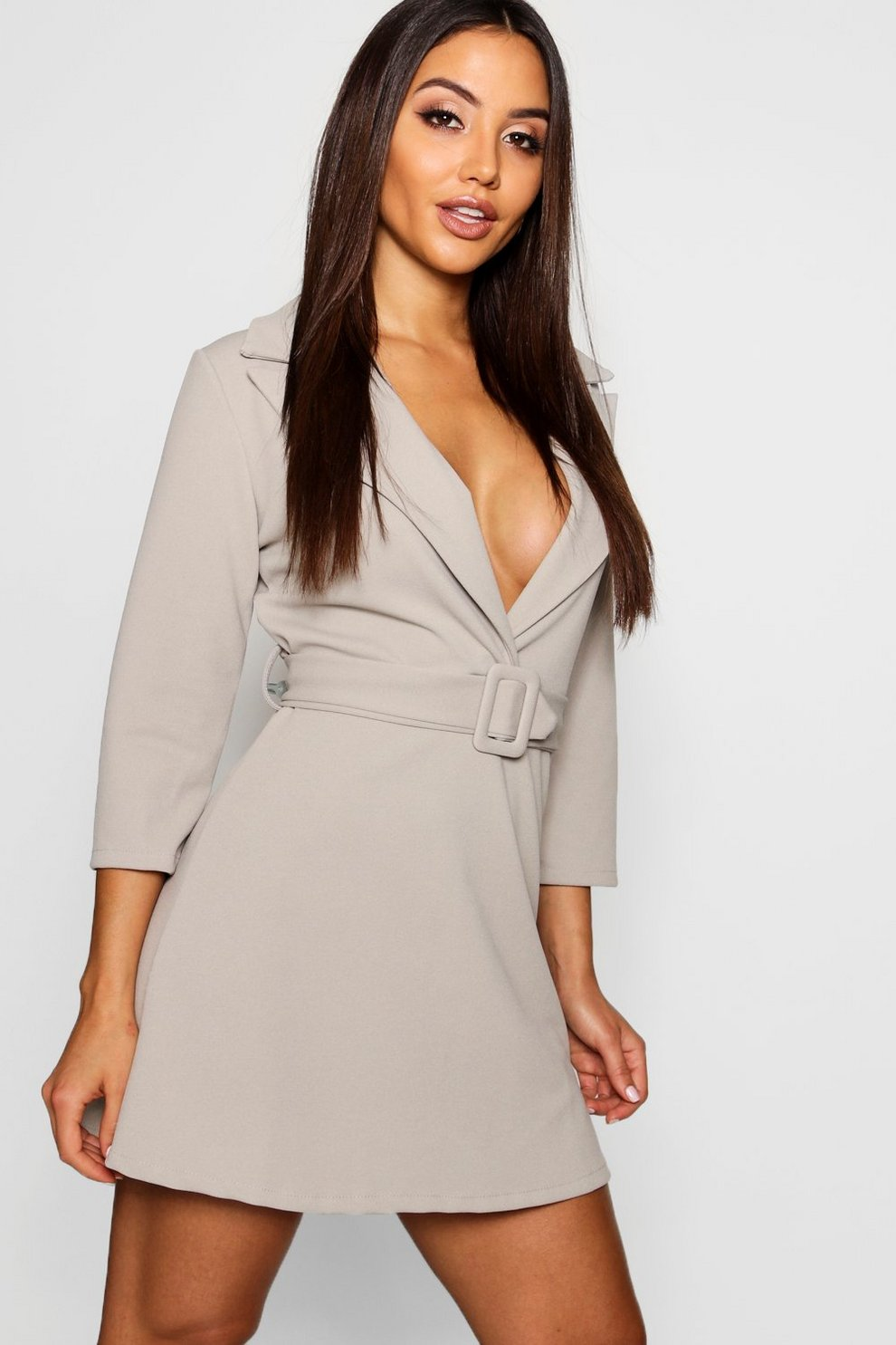 0ff3f100e42 Covered Belted Blazer Dress | Boohoo