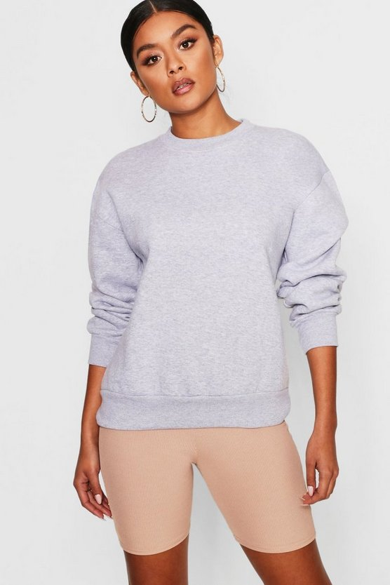 Womens Grey Oversized Sweatshirt