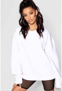 Womens White Oversized Sweatshirt