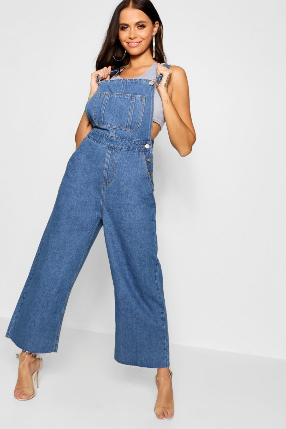 283603a2cda9 Cropped Wide Leg Overall