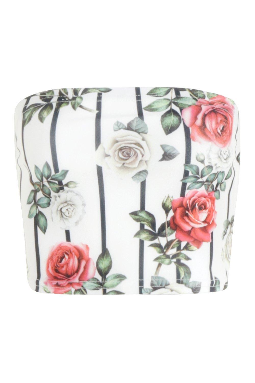 rayas y blanco a flores Bandeau qwvTBCv