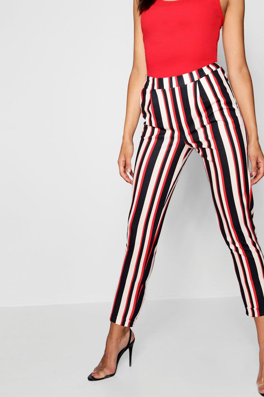 rayas teja teja entallados a entallados Pantalones entallados a a Pantalones teja Pantalones rayas rayas 7qRp81nWd
