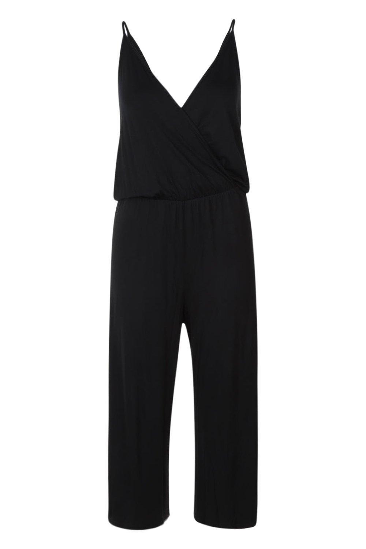tirantes negro Mono con culottes estilo wqa8RA