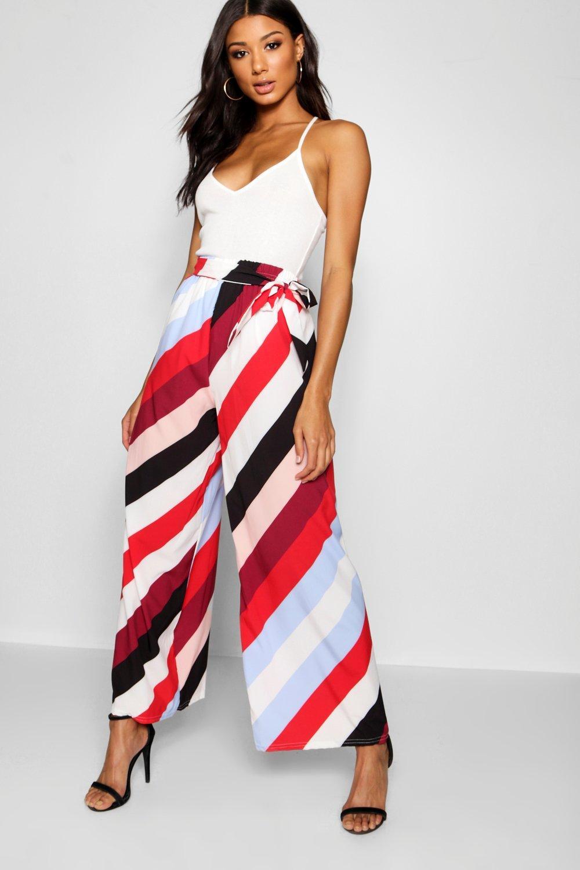 rayas Pantalones a diagonales multicolor acampanados tejidos HrYwqrt
