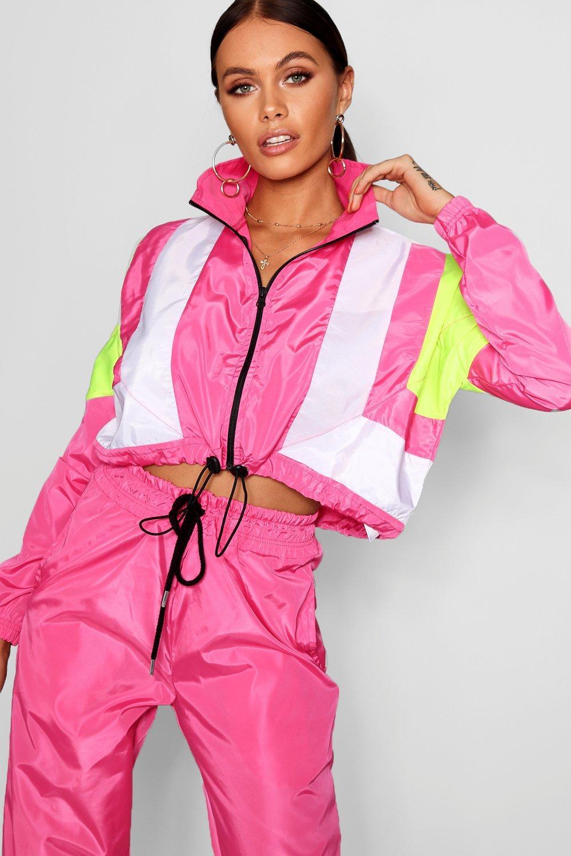 de rosa bloque Top en colores chándal estilo shell wR0Ot