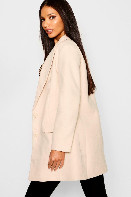 Abrigo bolsillo de efecto negro lana con de detalle rrT7qd