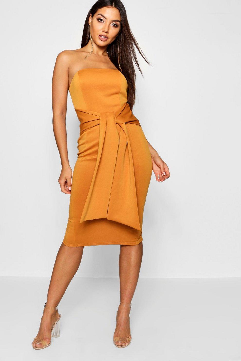dcfd0611d98 Bandeau Belted Midi Dress