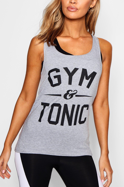 """ajustada amp; tirantes Tonic correr de """"Gym de Camiseta wfqazP"""