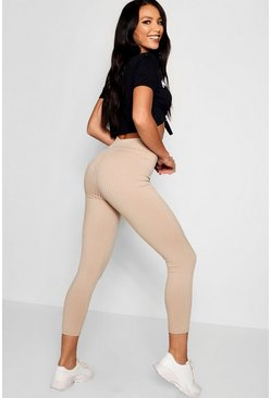 Stone Basic Jumbo Ribbed High Waisted Leggings