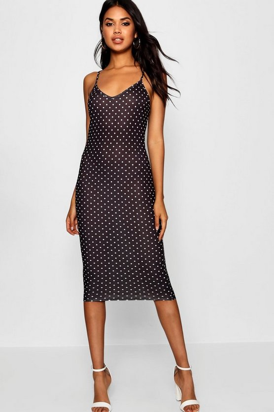 Polka Dot Cami Midi Dress