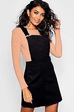 60s Skirts | 70s Hippie Skirts, Jumper Dresses Button Front Cord Pinafore Dress $44.00 AT vintagedancer.com