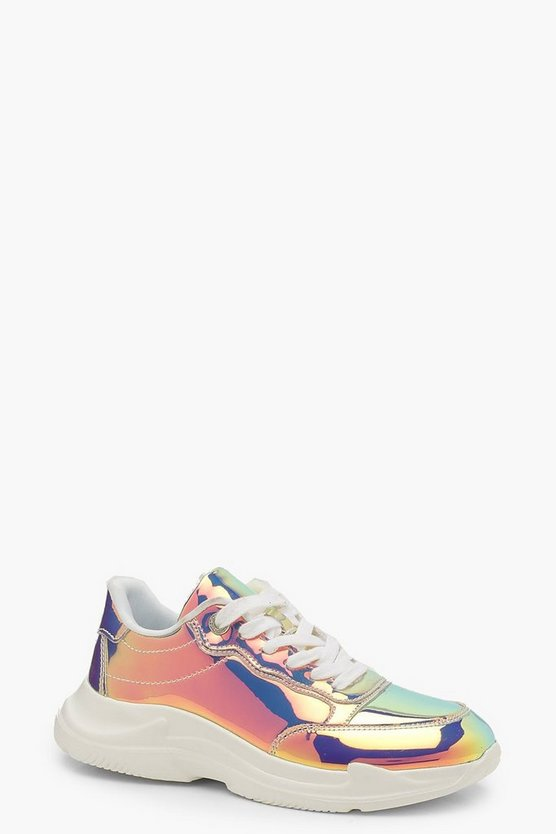 Chunky Holographic Trainers