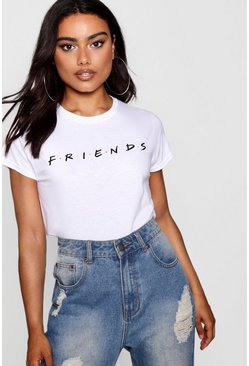 T-Shirt officiel Friends, Blanc, Femme