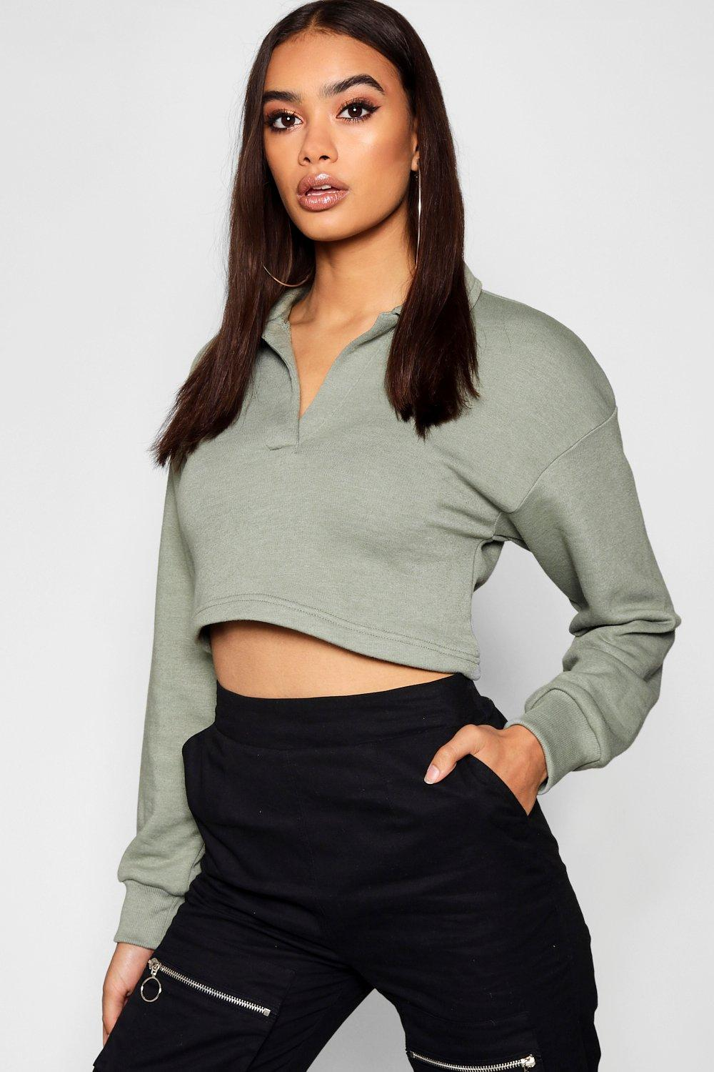 0532cd74e4b1 Cropped Rugby Shirt | Boohoo