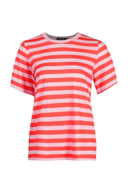 rojo Camiseta Camiseta a a rojo rayas a Camiseta rayas RqqxOwTFv