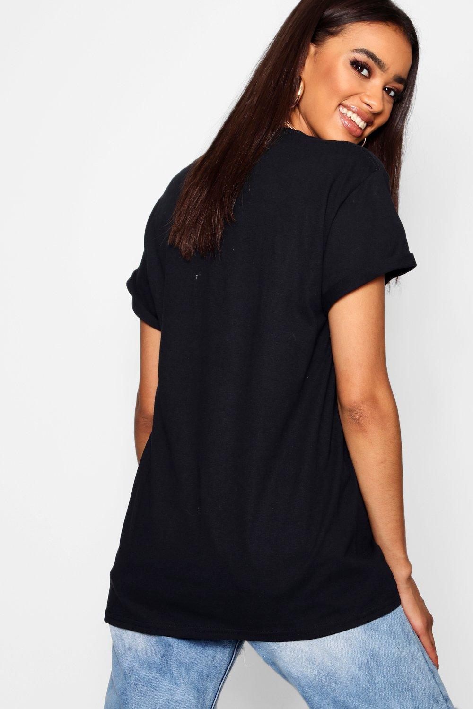 Camiseta con negro de estampado corazones ZZOBrz