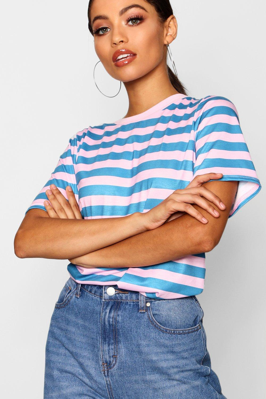 negro Camiseta rayas a a Camiseta rayas qwX188