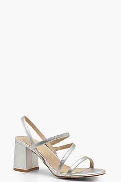 Asymmetric Block Heel Sandals