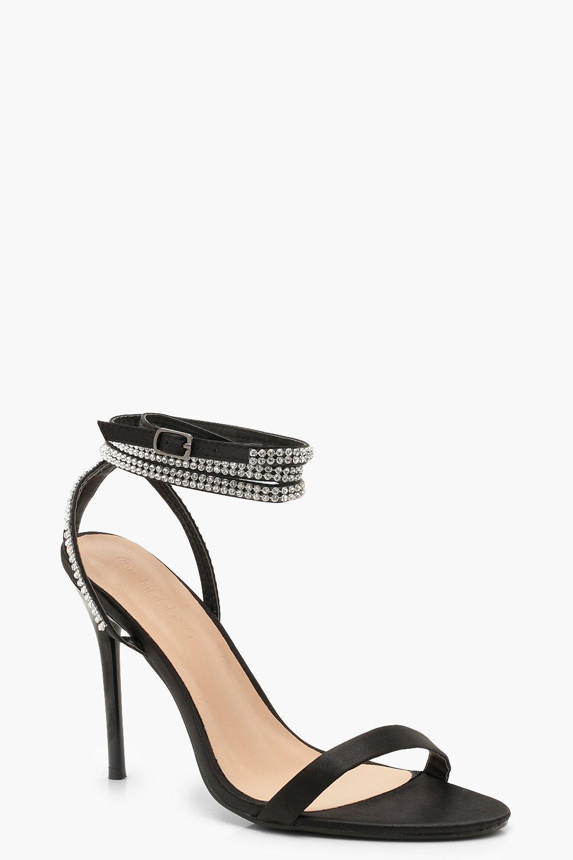Diamante Wrap 2 Part Heels
