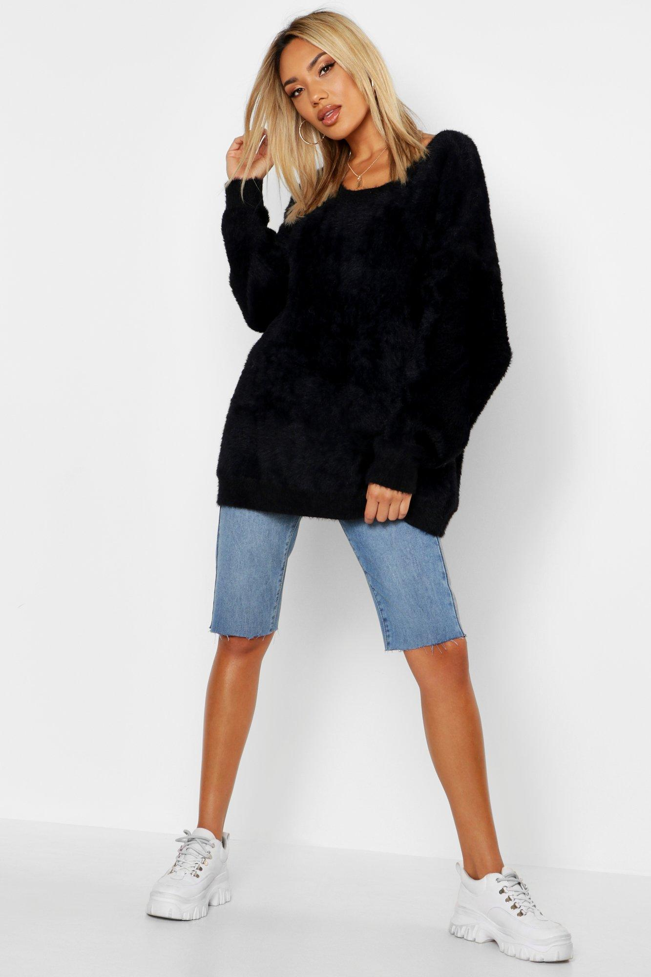 Premium Oversized Feather Knit