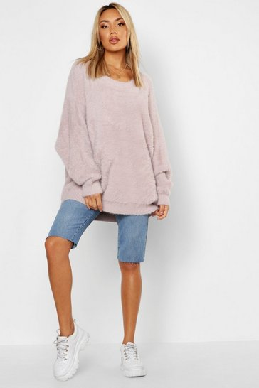 Mink Premium Oversized Feather Knit