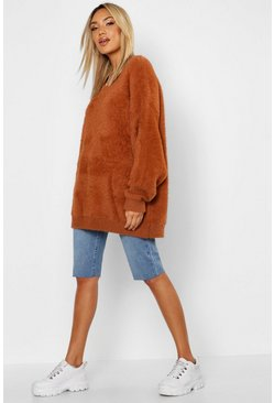 Tobacco Premium Oversized Feather Knit