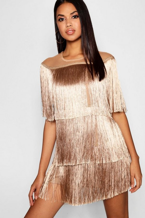 Tassel Detail Mini Dress