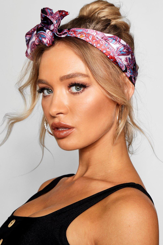 gamme exclusive meilleures baskets style de la mode de 2019 Foulard pour cheveux imprimé motif cachemire | Boohoo